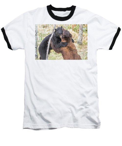 Bear Hug Baseball T-Shirt by Marc Crumpler