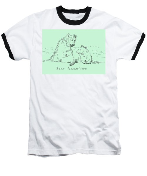 Baseball T-Shirt featuring the drawing Bear Necessities by Denise Fulmer