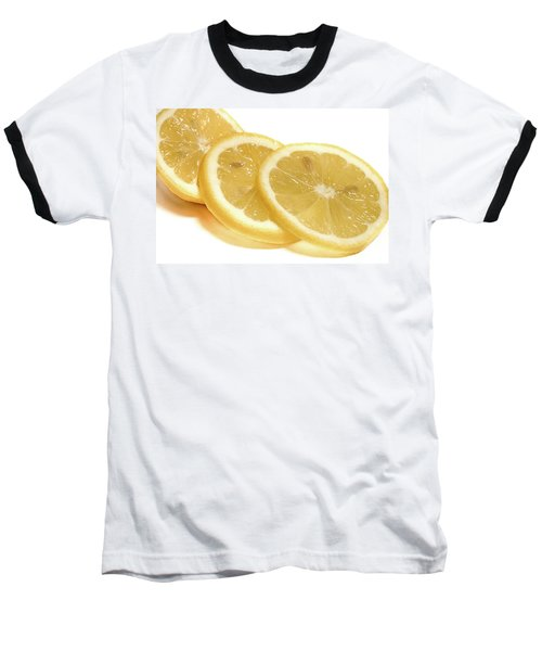 Beat The Heat With Refreshing Fruit Baseball T-Shirt by Nick Mares