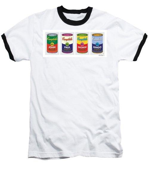 Beatle Soup Cans Baseball T-Shirt