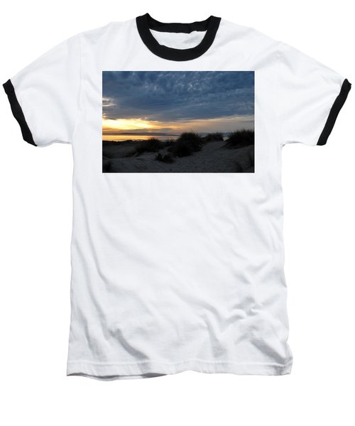 Beautiful Beach San Dunes Sunset And Clouds Baseball T-Shirt