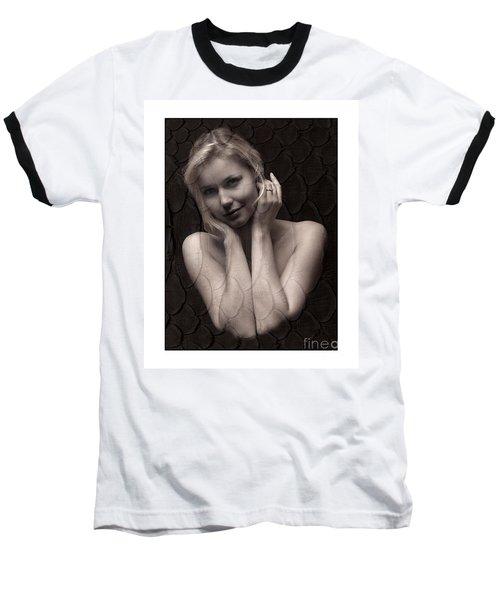 Beautiful Blonde Posing Baseball T-Shirt