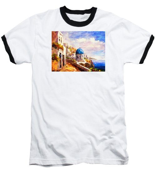 Beautiful Greece Baseball T-Shirt