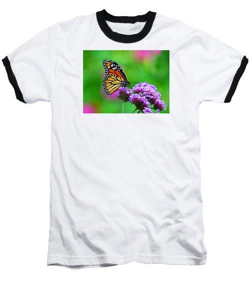 Beautiful Monarch Baseball T-Shirt by Rodney Campbell