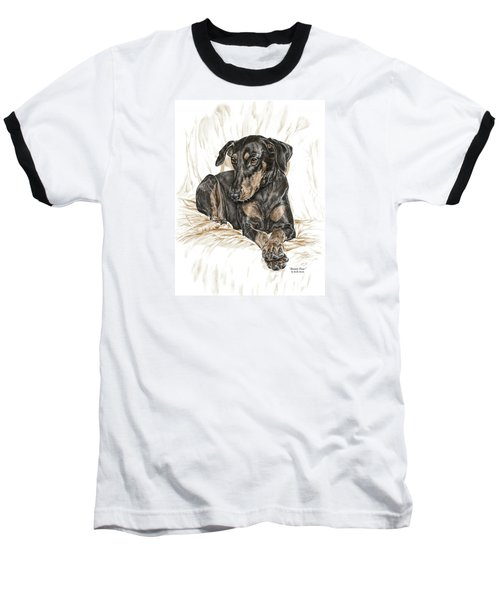 Beauty Pose - Doberman Pinscher Dog With Natural Ears Baseball T-Shirt by Kelli Swan