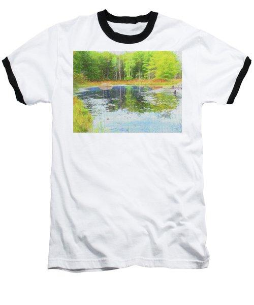 Beaver Pond Reflections Baseball T-Shirt