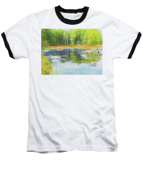 Beaver Pond Reflections Baseball T-Shirt