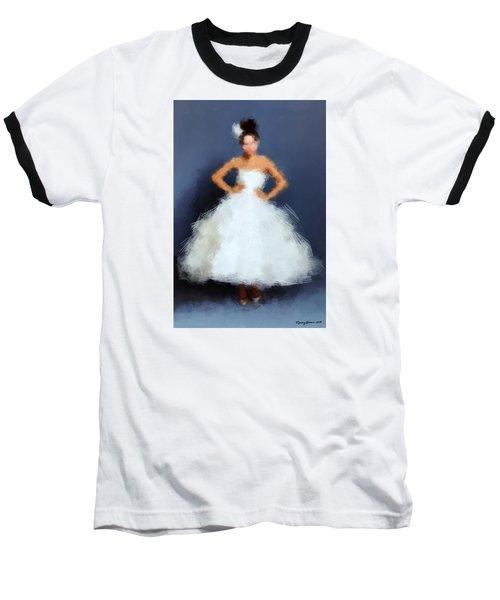 Baseball T-Shirt featuring the digital art Becky by Nancy Levan