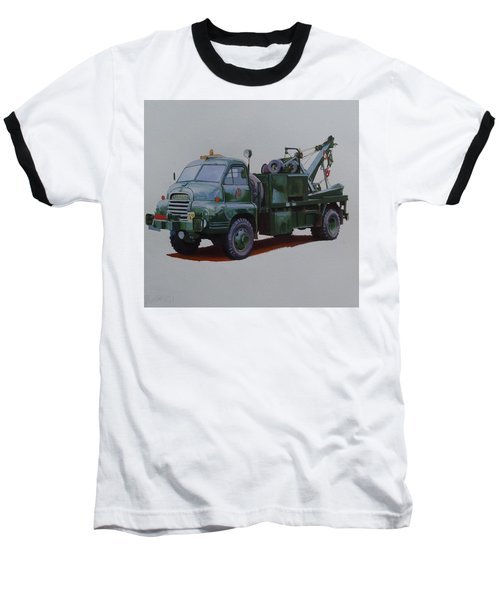 Baseball T-Shirt featuring the painting Bedford Wrecker Afs by Mike Jeffries