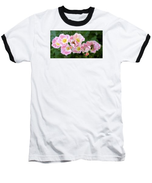 Bee And Roses Baseball T-Shirt