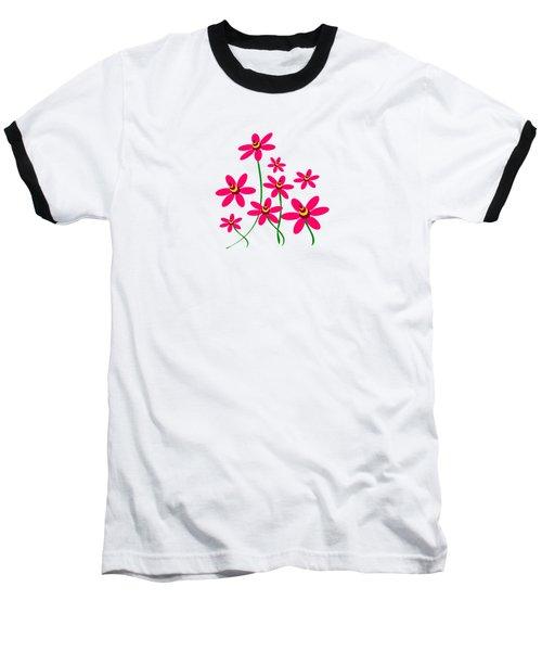 Bee Flowers Baseball T-Shirt