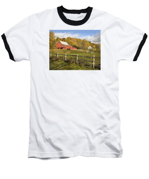 Baseball T-Shirt featuring the photograph Bee Hive Farm, West Windsor, Vt by Betty Denise