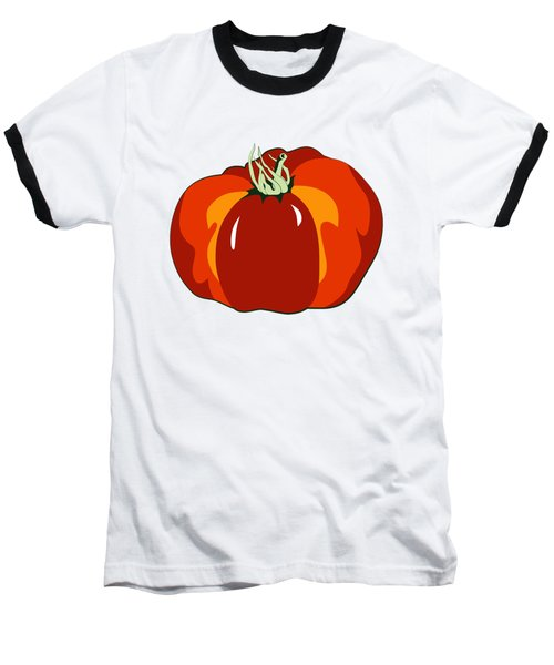 Beefsteak Tomato Baseball T-Shirt by MM Anderson