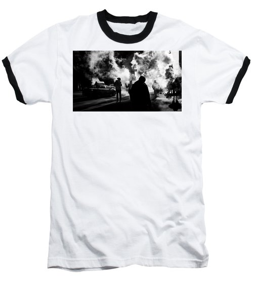 Behind The Smoke Baseball T-Shirt
