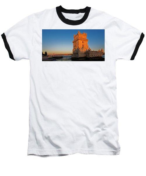 Belem Tower And The Moon Baseball T-Shirt