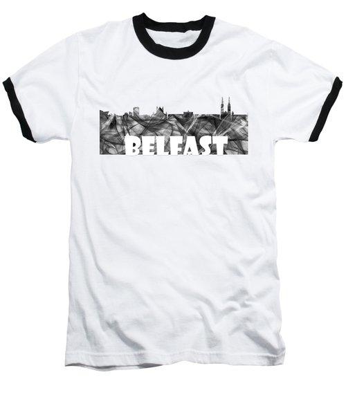 Belfast Ireland Skyline Baseball T-Shirt