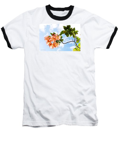 Bell Flowers In The Sky Baseball T-Shirt