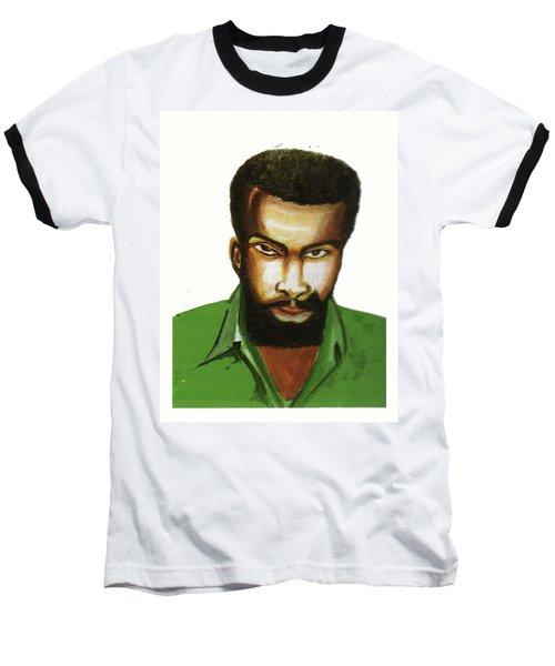 Ben Okri Baseball T-Shirt by Emmanuel Baliyanga