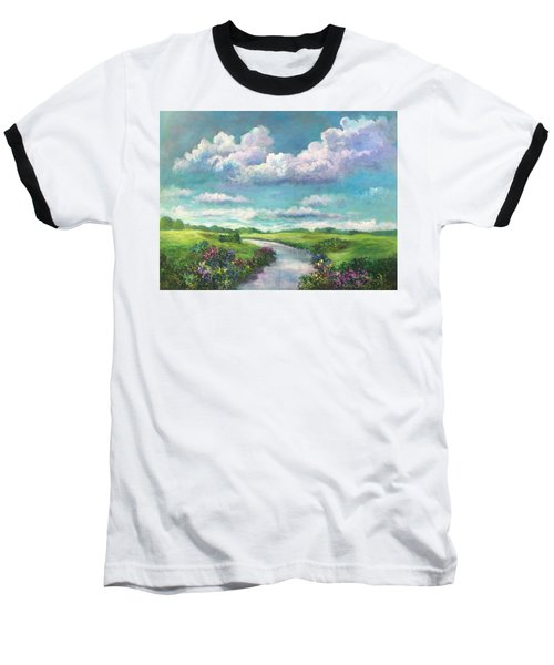 Beneath The Clouds Of Paradise Baseball T-Shirt by Randy Burns
