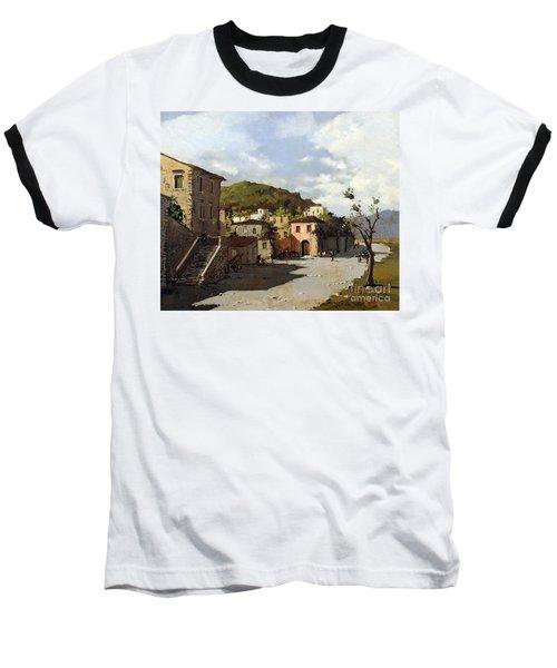 Provincia Di Benevento-italy Small Town The Road Home Baseball T-Shirt