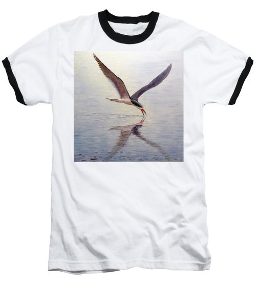 Baseball T-Shirt featuring the painting Black Skimmer by Joe Bergholm