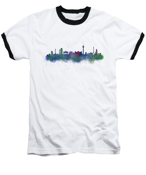 Berlin City Skyline Hq 2 Baseball T-Shirt