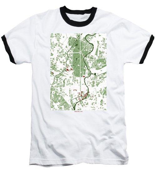 Berlin Minimal Map Baseball T-Shirt