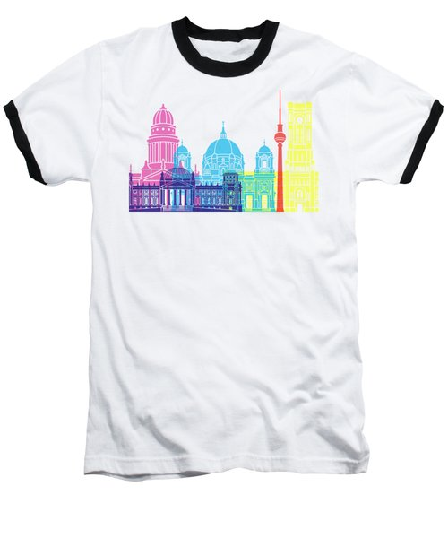 Berlin V2 Skyline Pop Baseball T-Shirt by Pablo Romero