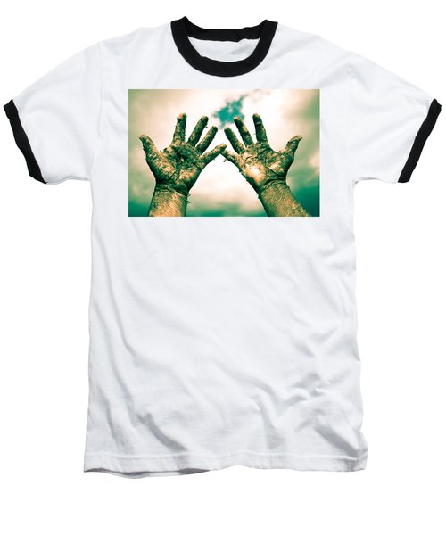 Beseeching Hands Baseball T-Shirt