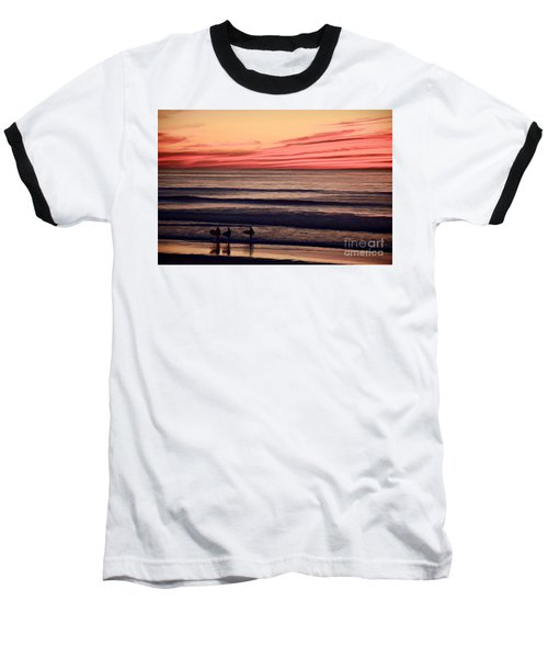 Beside Still Waters - Digital Paint Effect Baseball T-Shirt by Sharon Soberon