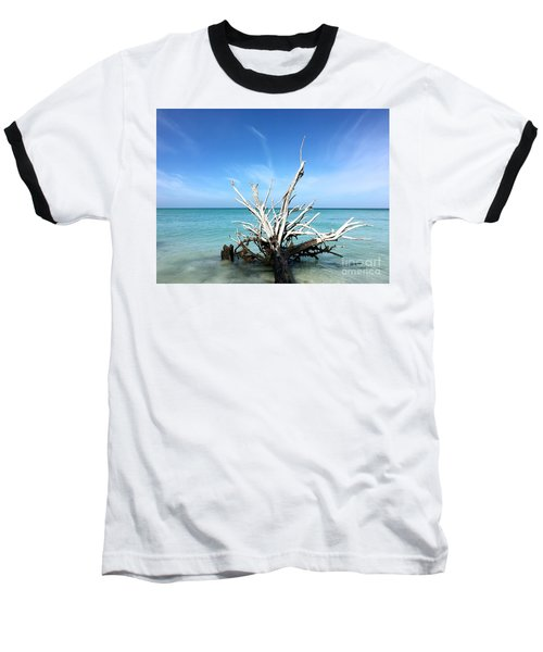 Beside Still Waters Baseball T-Shirt by Margie Amberge