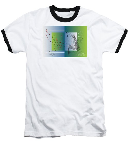 Baseball T-Shirt featuring the digital art Between Heaven And Me by Leo Symon