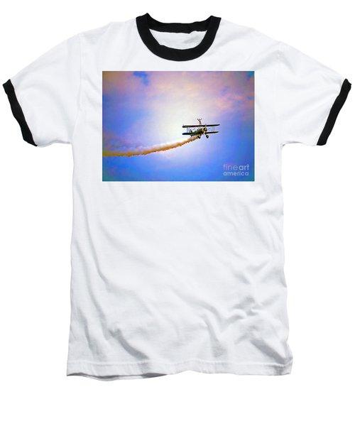 Bi-plane And Wing Walker Baseball T-Shirt