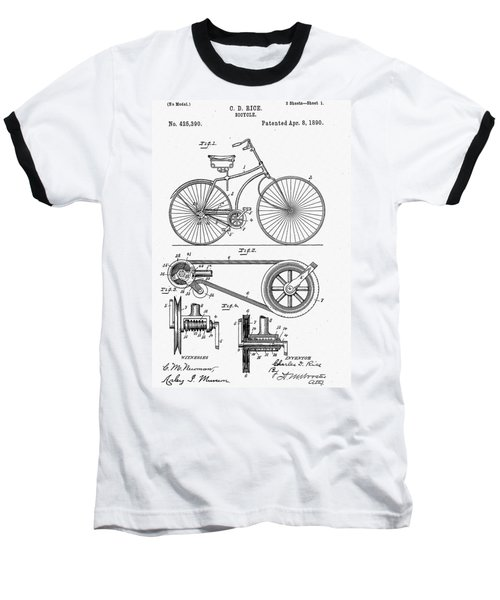 Bicycle Patent 1890 Baseball T-Shirt