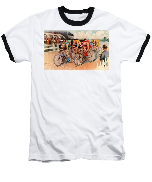 Bicycle Race 1895 Baseball T-Shirt by Padre Art