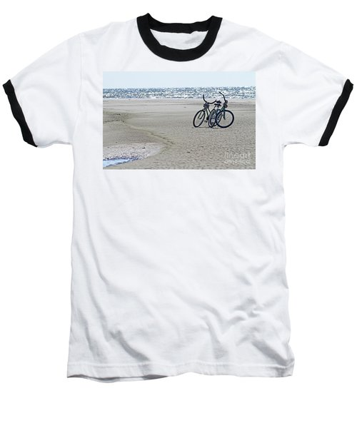 Bicycles On The Beach Baseball T-Shirt