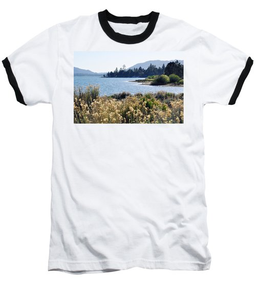 Big Bear Lake Shoreline Baseball T-Shirt by Kyle Hanson