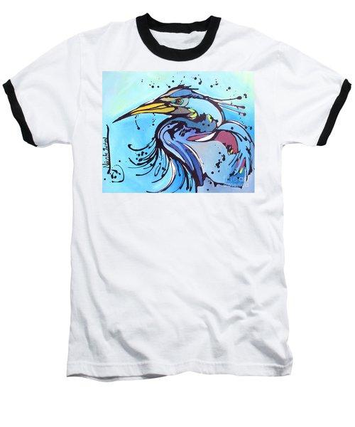 Big Blue Baseball T-Shirt by Nicole Gaitan