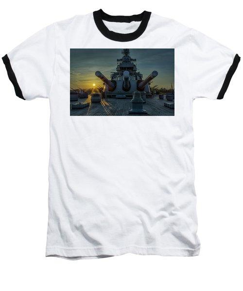 Big Guns At Sunset Baseball T-Shirt by Denis Lemay