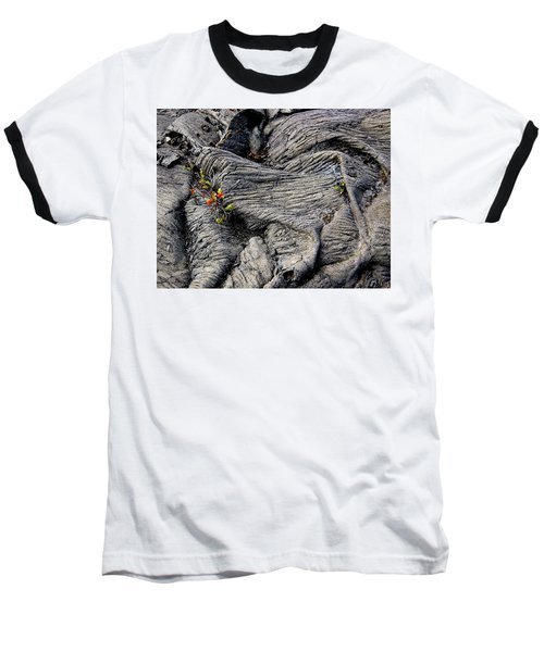Big Island Lava Flow Baseball T-Shirt by Amelia Racca