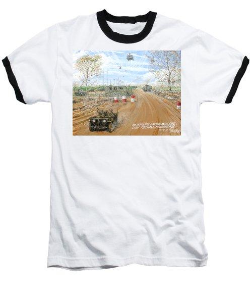 Big Red One Main Gate Di An Vietnam 1965 Baseball T-Shirt