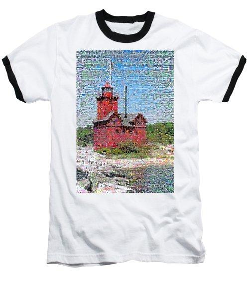 Big Red Photomosaic Baseball T-Shirt