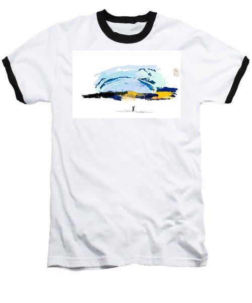Big Storm Coming Baseball T-Shirt by Debbi Saccomanno Chan