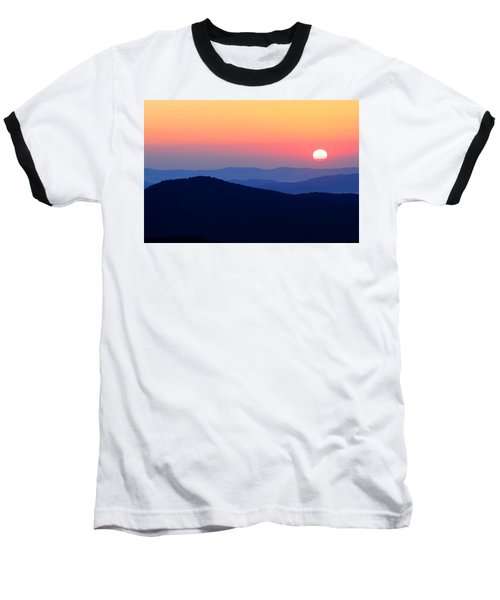Big Sunrise Off Blue Ridge Parkway Baseball T-Shirt