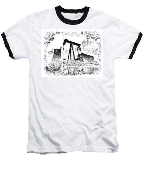 Big Thicket Oilfield Baseball T-Shirt