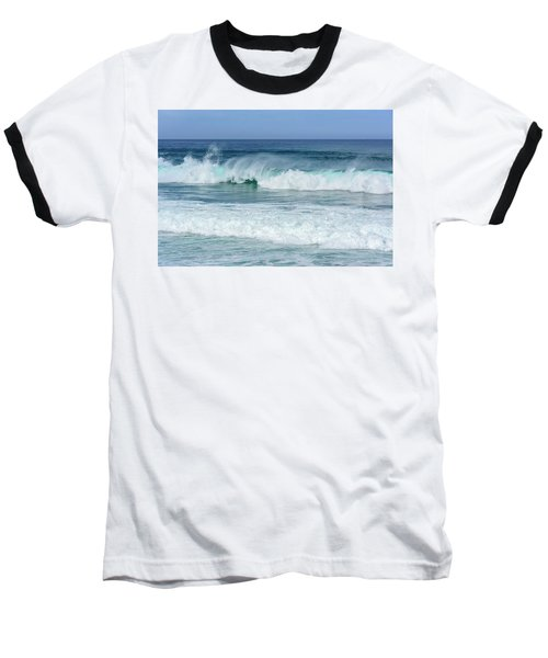 Baseball T-Shirt featuring the photograph Big Waves by Marion McCristall