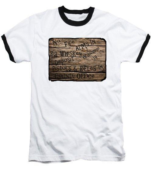 Big Whiskey Fire Arm Sign Baseball T-Shirt