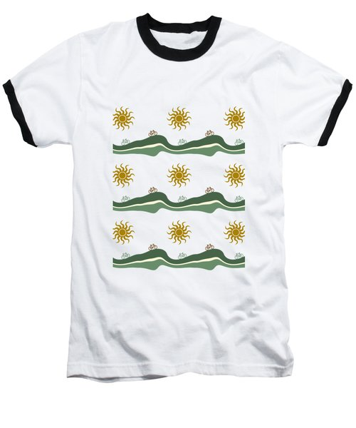Bike Pattern Baseball T-Shirt