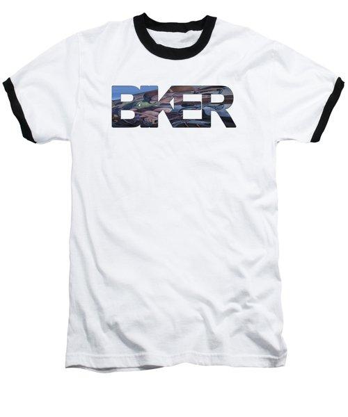 Biker Baseball T-Shirt by Priscilla Burgers