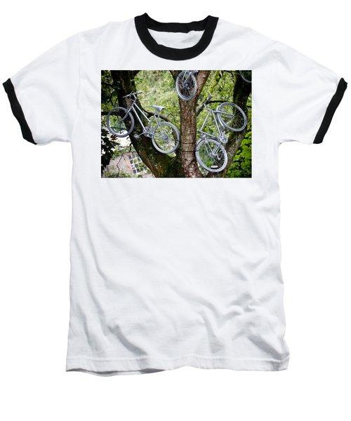 Bikes In A Tree Baseball T-Shirt